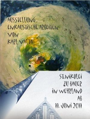 Ausstellung mit enkaustischen Arbeiten von Karl Valta