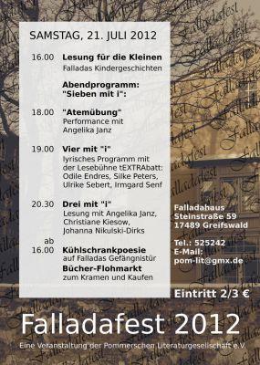 Hoffest anlässlich des Geburtstages Hans Falladas am 21. Juli